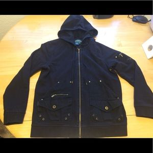 Lauren by Ralph Lauren military zip hoodie medium